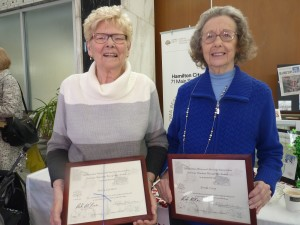 Mary and Freda - recipients of Heritage Volunteer Recognition Awards in February 2017